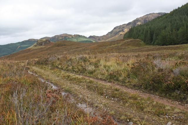 Track east of Loch Iain Mhic Aonghais