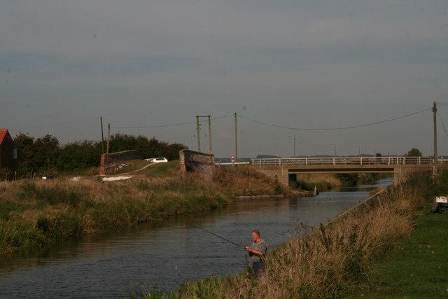 Hobhole Drain at Bell Water Bridge