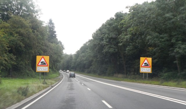 The A417 near Crickley Hill