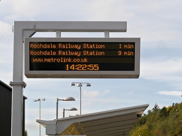 Metrolink Information Sign, Newhey Station