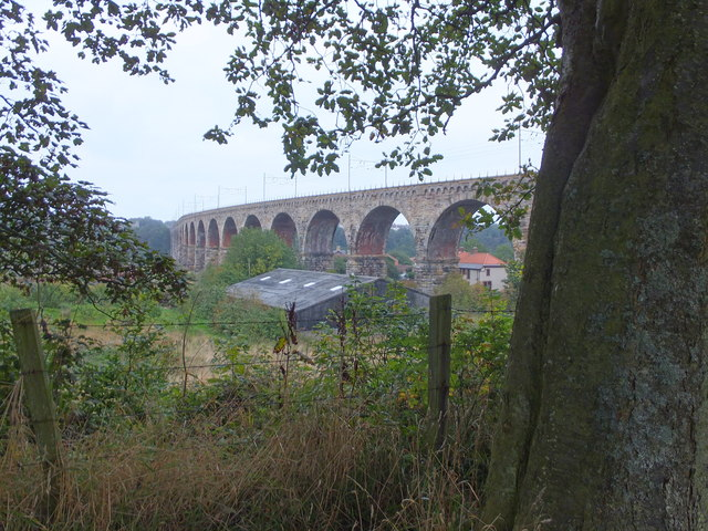 Railway viaduct from Tweedmouth park