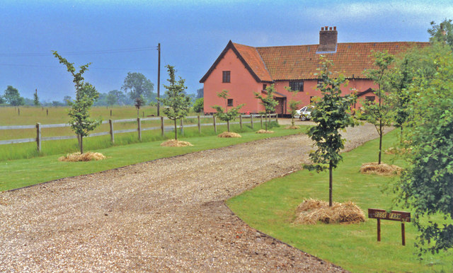 Horham: Rose Farm, near site of former station