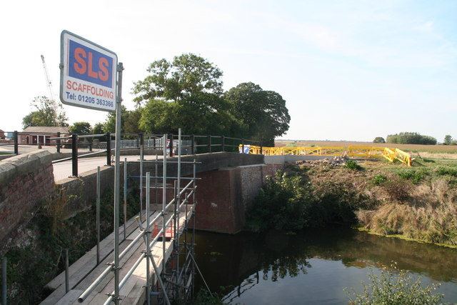 Bridge repairs by Lade Bank Pumping Station