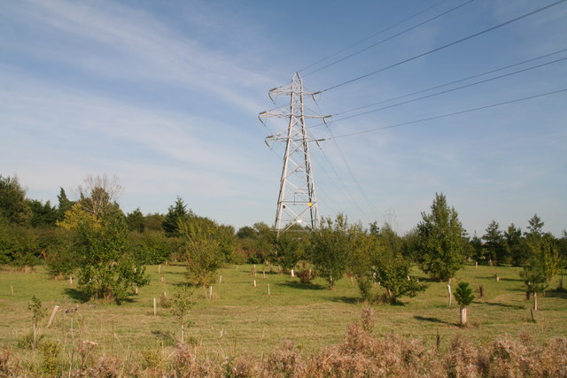 Pylons next to Station Road