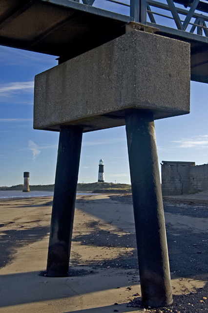 Between the legs of the jetty, Spurn