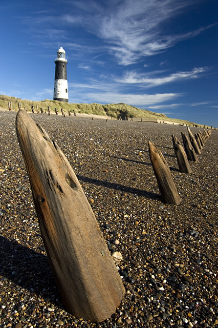 Eroded posts at Spurn