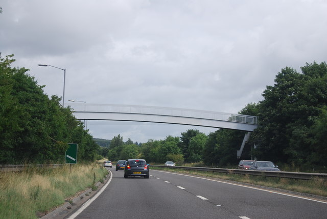 Footbridge over the A404