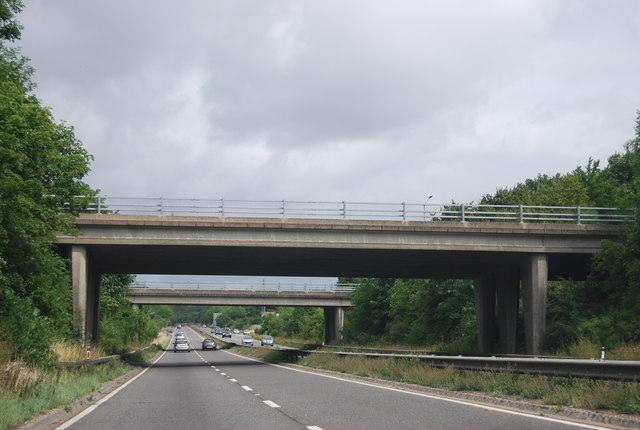 A4155 overbridges, A404