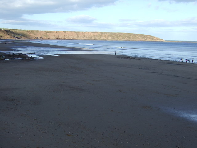 Beach at Filey, low tide