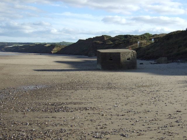 Pillbox on Hunmanby Sands