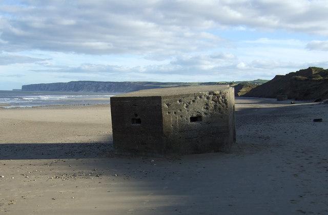 Pillbox on Hunmanby Sands