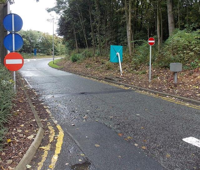 Entrance road to Hilton Park services, Essington