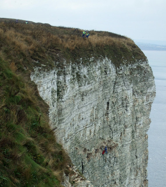 Cliff rescue, Bemton Cliffs