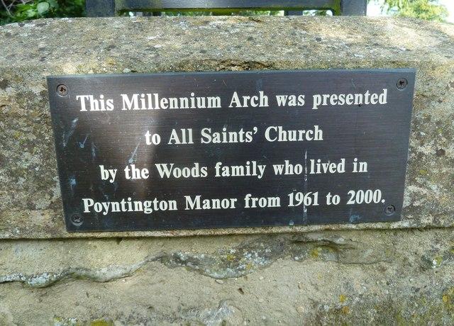 All Saints, Poyntington: Millennium Commemoration