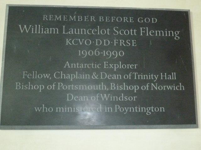 All Saints, Poyntington: memorial(1)