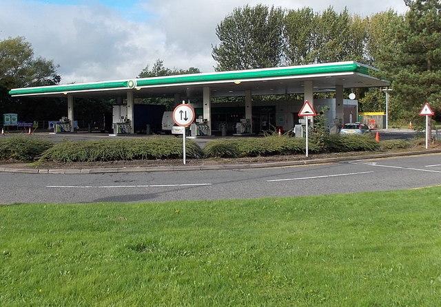 BP filling station in  Hilton Park services (northbound), Essington