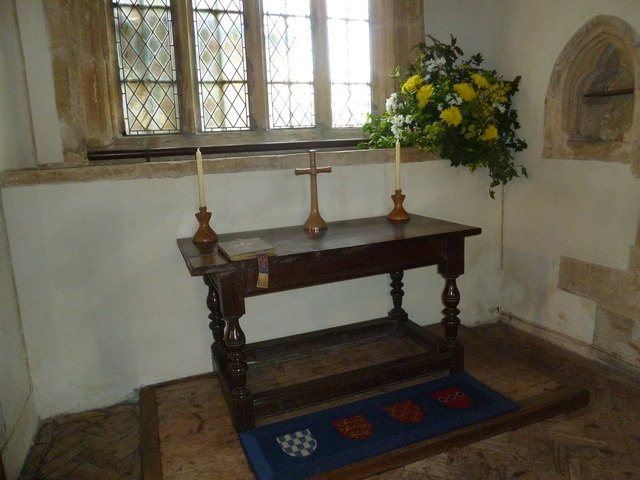 All Saints, Poyntington: altar (b)