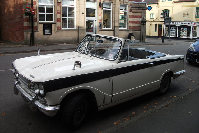 Triumph Vitesse convertable on Sandford Avenue