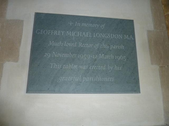 All Saints, Poyntington: memorial (8)