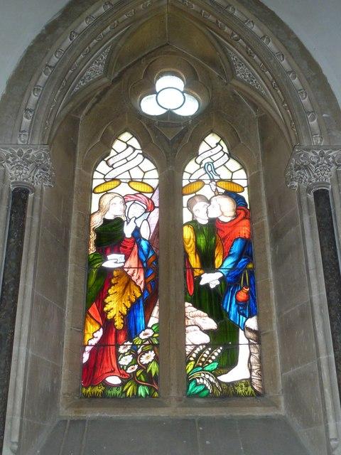 All Saints, Poyntington: stained glass window (i)