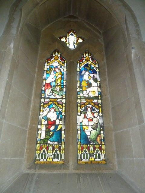 All Saints, Poyntington: stained glass window (ii)