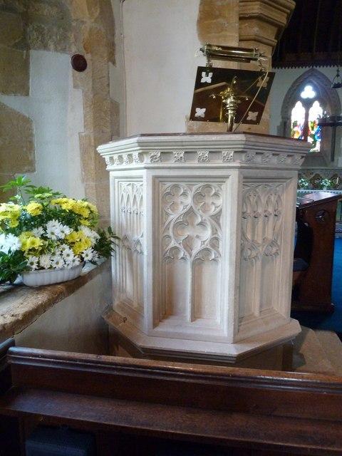 All Saints, Poyntington: pulpit