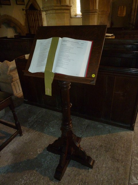 All Saints, Poyntington: lectern