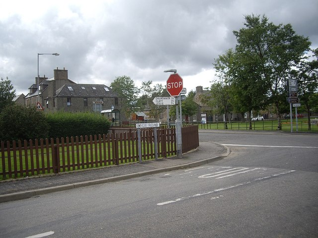 Junction of Bogie Road with A97