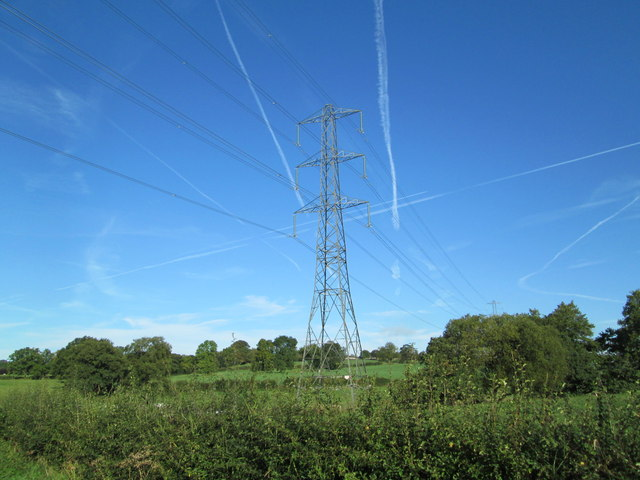Electricity pylon near Horton Brook