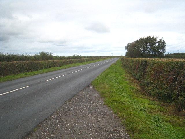 The B3254 Launceston to Kilkhampton road