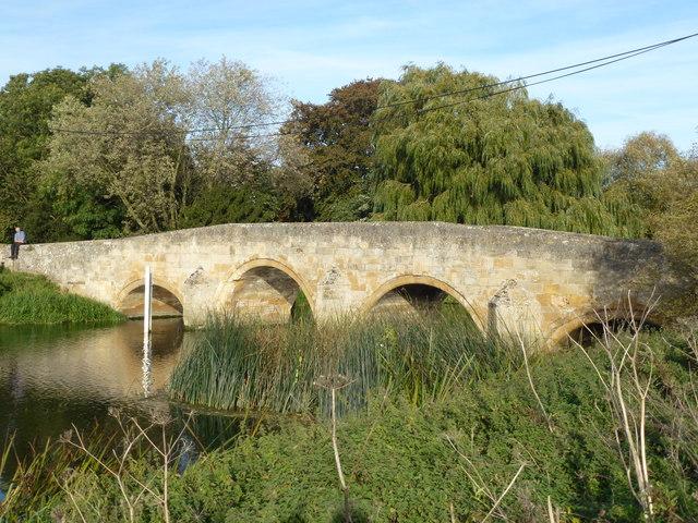 Old stone bridge in Fotheringhay