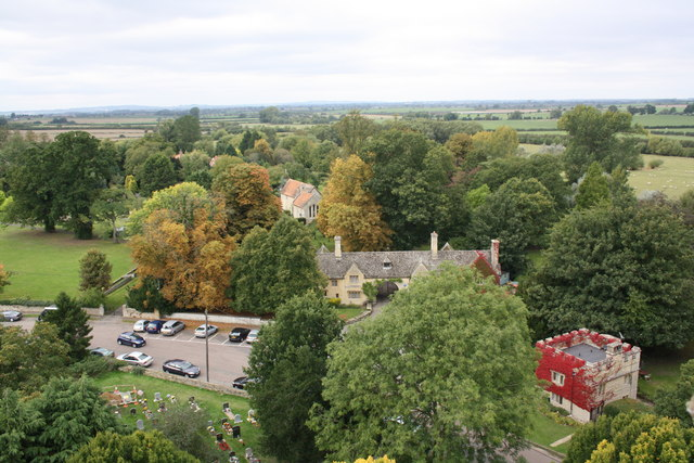 View west from top of St Mary's Church tower