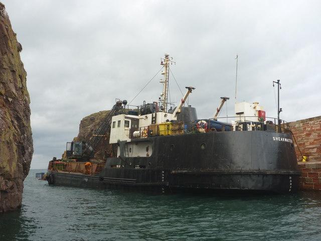 Coastal East Lothian ; MV Shearwater at Victoria Harbour, Dunbar