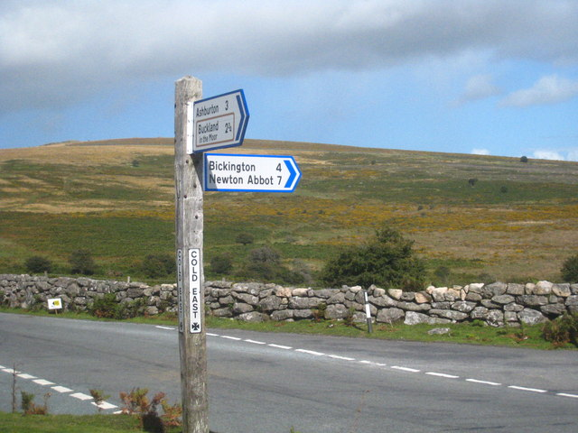 Finger post at Cold East Cross