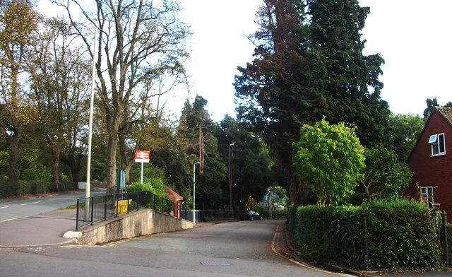 Entrance to Church Stretton station