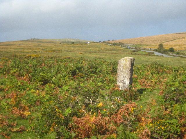 Boundary stone near Cold East Cross