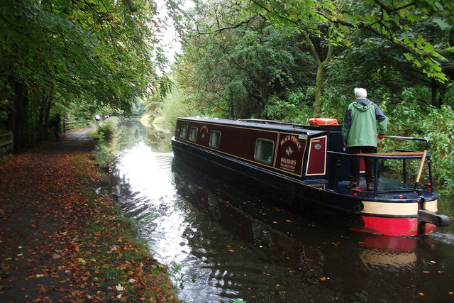 Narrowboat on the Huddersfield Narrow Canal