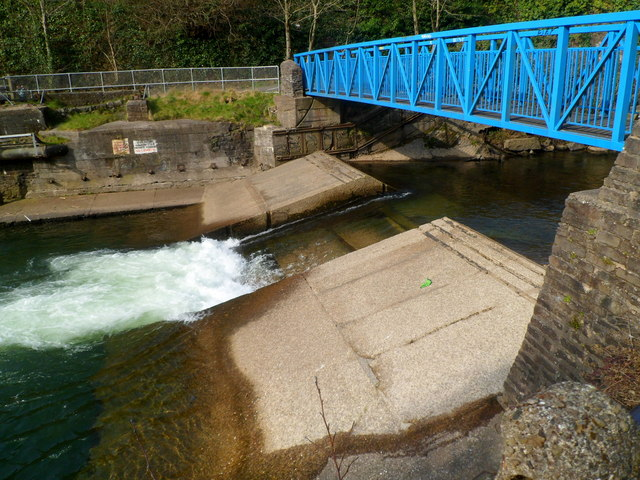 White water in the Afon Afan south of Cwmavon