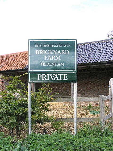 Brickyard Farm sign