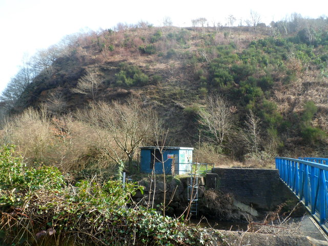 Steep hillside rising from the Afan valley south of Cwmavon