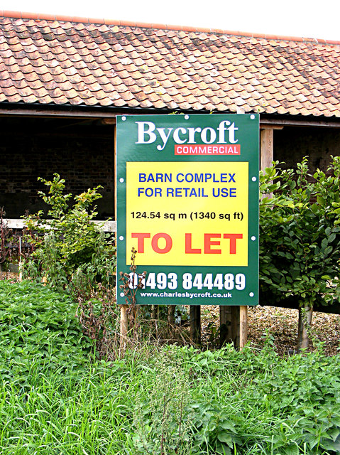 Estate Agent sign at Brickyard Farm