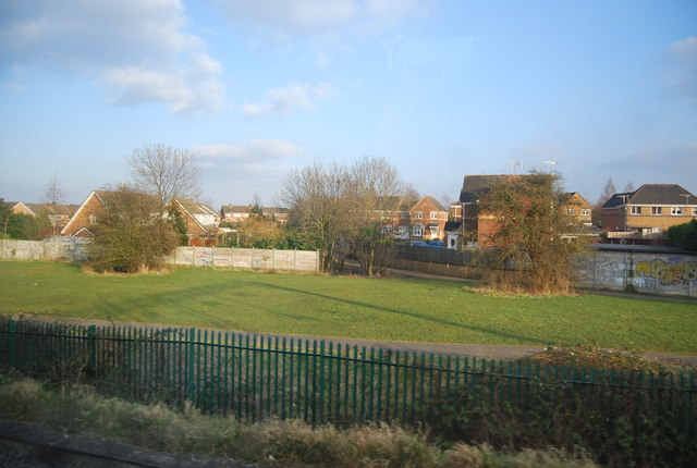 Open space by the WCML, Crewe