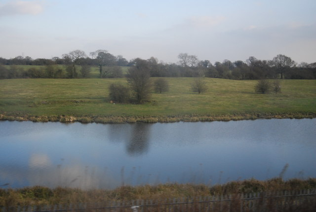 Large pond by the WCML