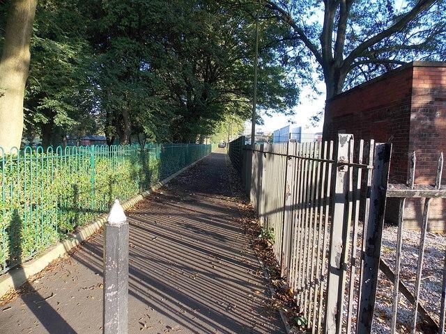 Path north from Wellington Road, Bury