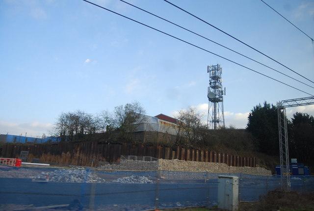 Mast south of Sandbach Station