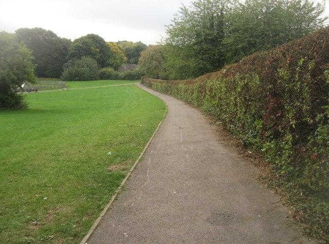 Path by par 3 golf course