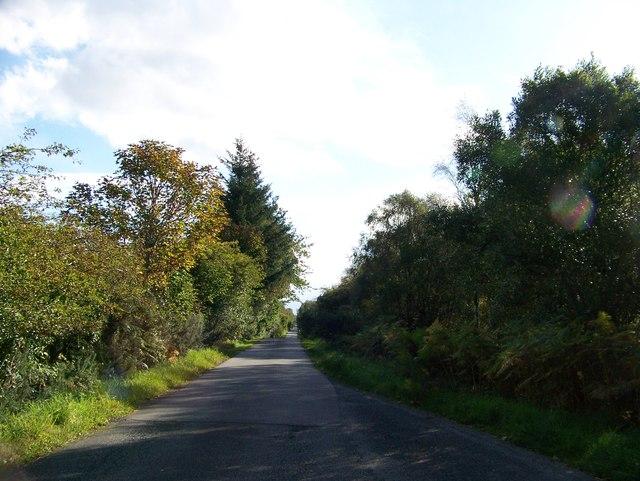 Road across Moss of Achnacree