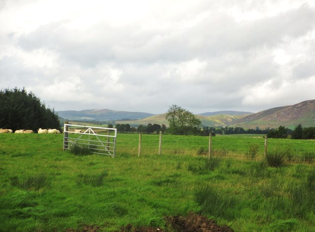 Looking towards the Lowther Hills