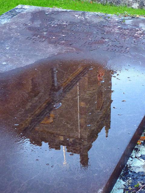 Reflection, St Oswald's Church, Warton