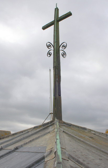 Cross on top of the tower of St Mary's Church